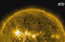 Меркурий начал редкий транзит через Солнце (Видео)