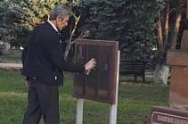 ՌԴ Արմավիրի քաղաքային դումայի պատգամավորը սև ներկով ներկել է Գարեգին Նժդեհի հուշատախտակը