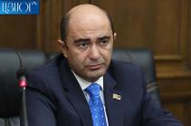 "Bright Armenia faction head describes veto on Armenian genocide resolution as ""expected bad scenario"""