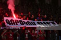 «Գործկոմ OUT».  Red Eagles-ի ակցիան՝ Հայաստան-Հունաստան խաղին
