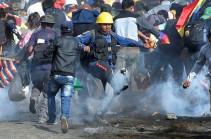 Bolivia crisis: 'Five dead' in pro-Morales protest