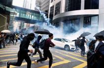 В Гонконге у университета, где засели протестующие, начался пожар
