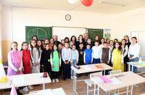 Հրազդանի թիվ 8 հիմնական դպրոցում բացվել է ֆրանսերենի դասասենյակ (Տեսանյութ, լուսանկարներ)
