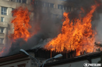 Վառվում է «Դոլմամա» ռեստորանը (Լուսանկարներ)