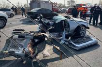 Վթարի հետևանքով BMW-ն հայտնվել է ЗИЛ-ի տակ. կա մեկ զոհ (Տեսանյութ)