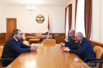 Bako Sahakyan receives Armenia's attorney-general Arthur Davtyan