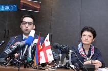 Հայաստանի և Վրաստանի արդարադատության նախարարների մամուլի ասուլիսը