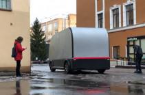 Սանկտ Պետերբուրգում փորձարկել են անվարորդ բեռնատար ավտոմեքենա (Տեսանյութ)