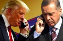 Трамп обсудил с Эрдоганом ситуацию на Ближнем Востоке