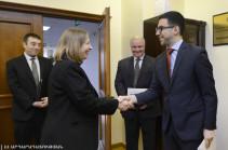 Armenia's Justice Minister, U.S. Ambassador discuss anti-corruption reforms in Armenia
