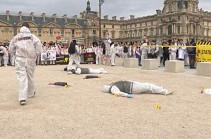 Ֆրանսիացի դատաբժիշկները բողոքի ակցիա են կազմակերպել (Տեսանյութ)