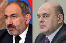 Armenia's PM congratulates Mikhail Mishustin on appointment