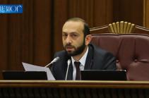 Спикер парламента применил мера дисциплинарного воздействия к некоторым депутатам фракции «Процветающая Армения», лишив из права присутствовать на заседании