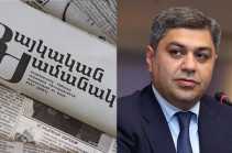 Artur Vanetsyan's representatives demand rejection of information by media belonging to Pashinyan's family