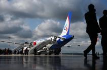 Plane making Yekaterinburg-Yerevan flight returns to Yekaterinburg airport after detector of chassis malfunction turns on