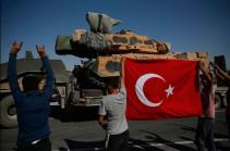 Турецкая военная колонна пересекла границу с Сирией и направляется на юг Идлиба