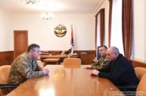 Президент Арцаха встретился с начальником Генштаба ВС Армении Артаком Давтяном