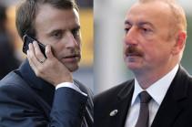 Макрон в телефонном разговоре с Алиевым обсудил процесс карабахского урегулирования