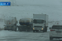 Emergency Ministry reports about closed and hard to pass roads in Armenia
