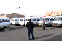 Drivers of tens of mini-buses in Yerevan declare strike