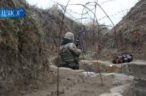 Հակառակորդը հայ դիրքապահների ուղղությամբ արձակել է ավելի քան 1800 կրակոց
