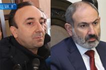 CC chairman Hrayr Tovmasyan files lawsuit against Armenia's PM