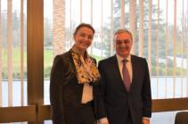 Զոհրաբ Մնացականյանը հանդիպել է Եվրոպայի խորհրդի գլխավոր քարտուղար Մարիա Պեյչինովիչ Բուրիչի հետ