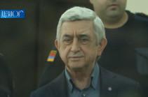 Yerevan court denies defense's motion to recuse prosecutor in Serzh Sargsyan's case