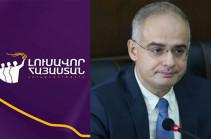 «Լուսավոր Հայաստան»-ը դատի է տվել Լևոն Զուրաբյանին