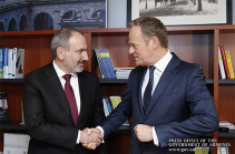 """""""You can rely on me in my new position"""" - Donald Tusk to Prime Minister Pashinyan"""