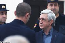 Судебное заседание с участием третьего президента Армении Сержа Саргсяна отложено