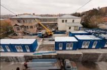 Հայաստանում՝ «Նորք» ինֆեկցիոն հիվանդանոցին կից, 10 օրում 42 սպասասենյակ ունեցող մոդուլ է կառուցվել (Տեսանյութ)