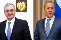 Armenian, Russian FMs discuss steps over prevention of spread of coronavirus