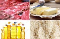 В Армении снизятся цены на мясо, масло, рис