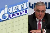 Armenia's deputy PM still waits for response from Gazprom