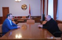 Bako Sahakyan, Armen Grigoryan discuss cooperation in security sphere