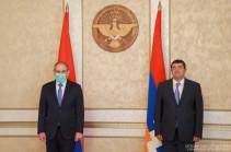 Artsakh President Arayik Harutyunyan, Armenia's PM Nikol Pashinyan meet in Artsakh