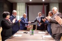 Artsakh president Arayik Harutyunyan sign cooperation memorandum with Samvel Babayan