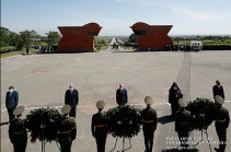 Высшее руководство Армении посетило Мемориальный комплекс «Сардарапат»
