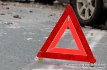 Վթար՝ Երևանում. վարորդը գլխի շրջանում վնասվածքներով տեղափոխվել է հիվանդանոց