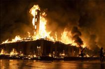 Վաշինգտոնում Սպիտակ տան մոտակայքում բողոքի ցույցերի ընթացքում մի քանի շենք է այրվել (Տեսանյութ)