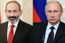 Президент России поздравил Никола Пашиняна с 45-летием