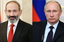 Vladimir Putin sends birthday greetings to Nikol Pashinyan