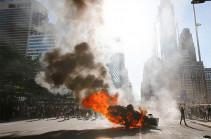 Полиция Нью-Йорка задержала около двухсот человек в ходе протестов