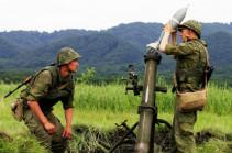В Армении минометчики ЮВО уничтожили военную технику условного противника «кочующими» минометами