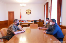 Artsakh President Arayik Harutyunyan received head of the General Staff of the Republic of Armenia Armed forces Onik Gasparyan