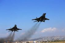 Летчики МиГ-29 ЮВО провели учебные полеты в небе Армении