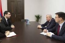 Armenia's NA vice-speaker meets Russian ambassador, discusses domestic political issues