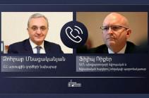Հայաստանի ԱԳ նախարարը և ԱՄՆ պետքարտուղարի տեղակալի պաշտոնակատարը քննարկել են ԼՂ հիմնախնդրի կարգավորման գործընթացի վերջին զարգացումները