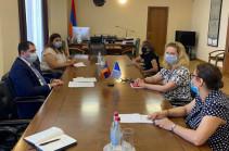 Սուրեն Պապիկյանը հրաժեշտի հանդիպում է ունեցել Երևանում Եվրոպայի խորհրդի գրասենյակի ղեկավար Նատալյա Վուտովայի հետ
